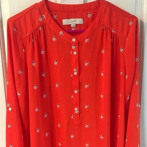 Ann Taylor LOFT women's blouse, Sz medium
